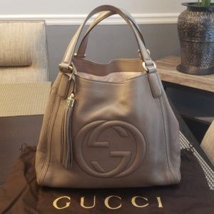 FLASH SALE! GORGEOUS GUCCI TAUPE SOHO TOTE